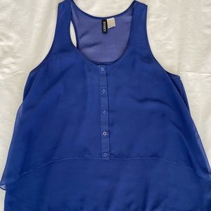 Blue racer back  top